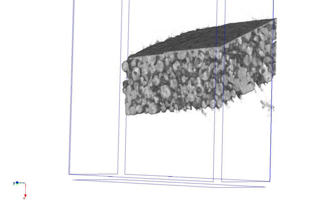 Querschnitt einer Elektrode im Projekt AkTi03n. Foto: Steffen Witzleben